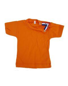 Baby T-shirt oranje met vlaggetje