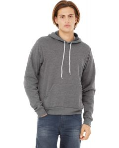 Unisex Poly-Cotton Fleece Pullover Hoodie heather