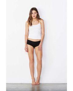 Womens Cotton Spandex Shortie white