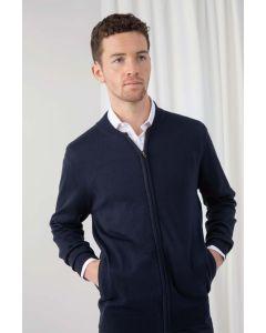 Knitted bomber jacket