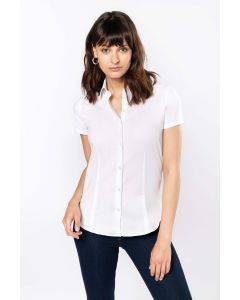 Dames stretch blouse korte mouwen