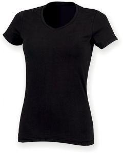 Ladies Stretch V-neck T-shirt