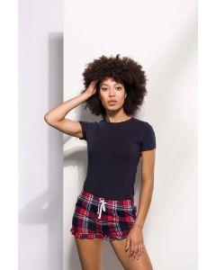 Womens Tartan Frill Lounge Shorts